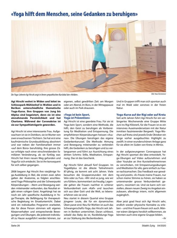 Zeitung_Yoga